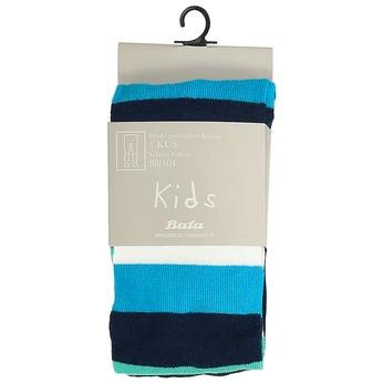 Modré detské pančuchové nohavice s prúžkami bata, zelená, 919-7687 - 13