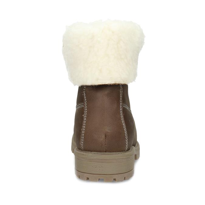 Dámska hnedá kožená zimná obuv weinbrenner, hnedá, 596-3743 - 15