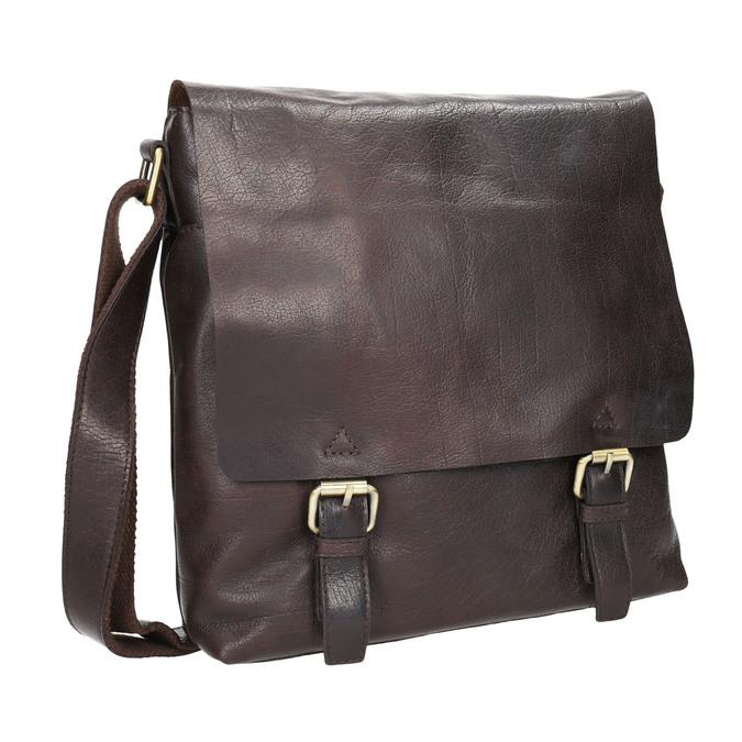 Pánska kožená taška bata, hnedá, 964-4234 - 13