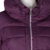 Dlhá dámska fialová bunda s prešitím bata, fialová, 979-0348 - 16
