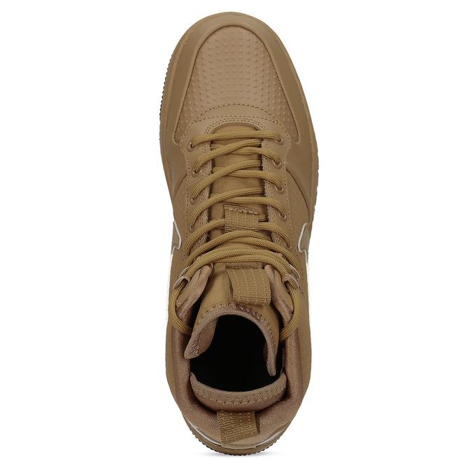 Kožené hnedé pánske členkové tenisky nike, hnedá, 804-8763 - 17
