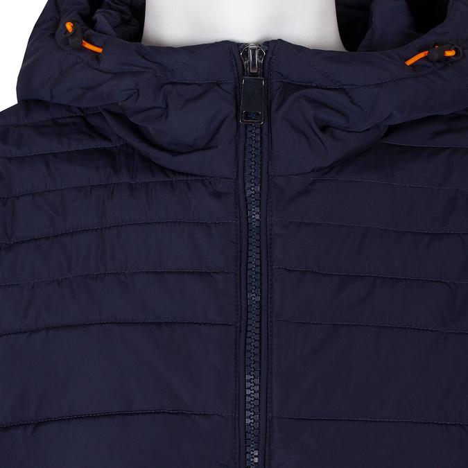 Modrá prešívaná bunda s oranžovými detailami bata, modrá, 979-9430 - 16