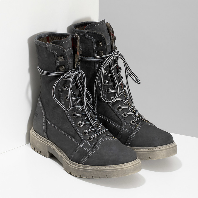 Kožená dámska vysoká obuv weinbrenner, šedá, 596-2746 - 26