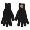 Čierne rukavice s hnedým logom weinbrenner, čierna, 909-6734 - 26