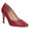 Červené kožené dámske lodičky na ihličkovom podpätku insolia, červená, 724-5661 - 13