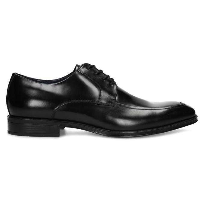 Kožené čierne derby poltopánky bata, čierna, 824-6837 - 19