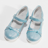 Modré detské baleríny s ozdobnými remienkami mini-b, modrá, 321-9640 - 16