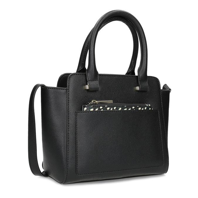 Čierna kabelka s vreckom s bodkami bata-red-label, čierna, 961-6946 - 13