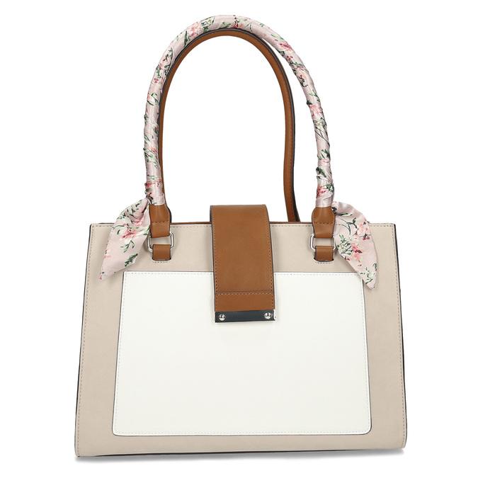 Dámska béžová kabelka so šatkou bata-red-label, béžová, 961-8953 - 26