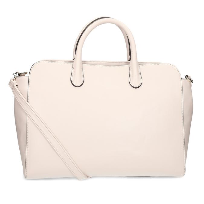 Béžová dámska kabelka s prešitím bata-red-label, ružová, 961-5950 - 16