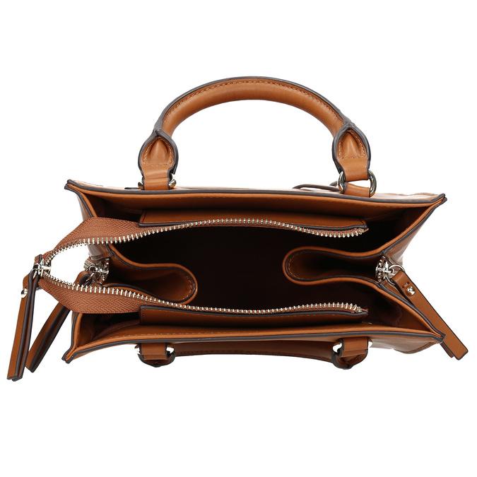 Dámska kabelka so zipsami hnedá bata-red-label, hnedá, 961-3956 - 15