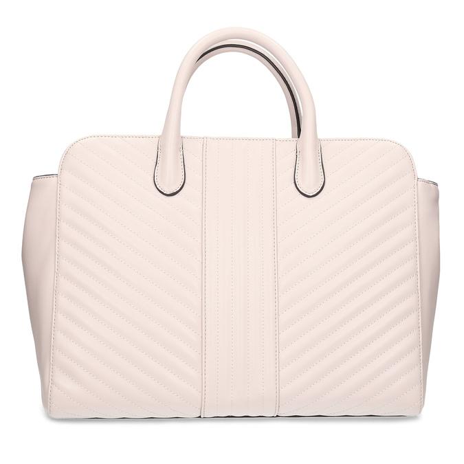 Béžová dámska kabelka s prešitím bata-red-label, ružová, 961-5950 - 26