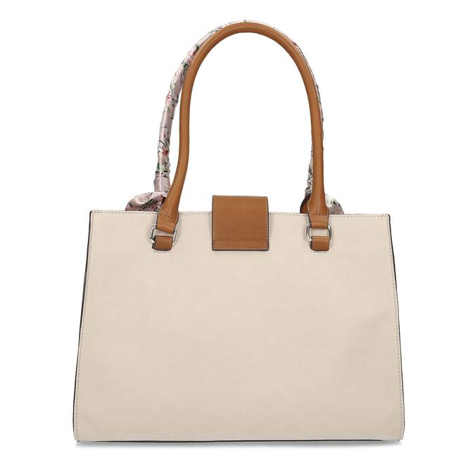 Dámska béžová kabelka so šatkou bata-red-label, béžová, 961-8953 - 16