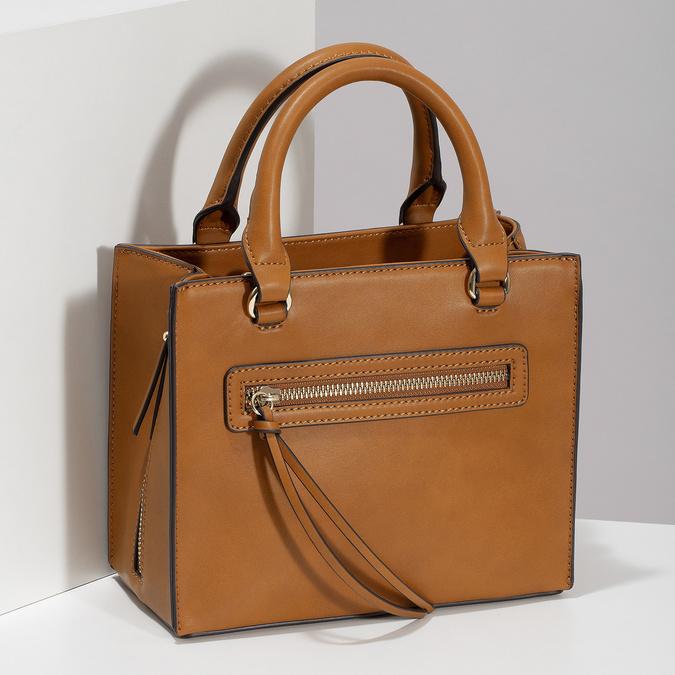 Dámska kabelka so zipsami hnedá bata-red-label, hnedá, 961-3956 - 17