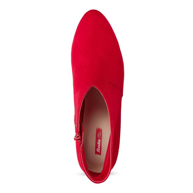 Červené dámske členkové čižmy na podpätku bata-red-label, červená, 799-5646 - 17