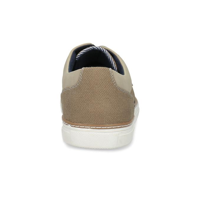 Béžové pánske tenisky s rovnou podrážkou bata-red-label, hnedá, 841-3609 - 15