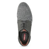 Pánske ležérne šedé Derby poltopánky bata-red-label, šedá, 821-2608 - 17