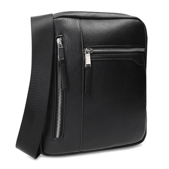 Čierna pánska Crossbody taška bata, čierna, 961-6966 - 13