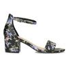 Čierne sandále na podpätku s kvetinovým vzorom bata-red-label, viacfarebné, 661-6615 - 19