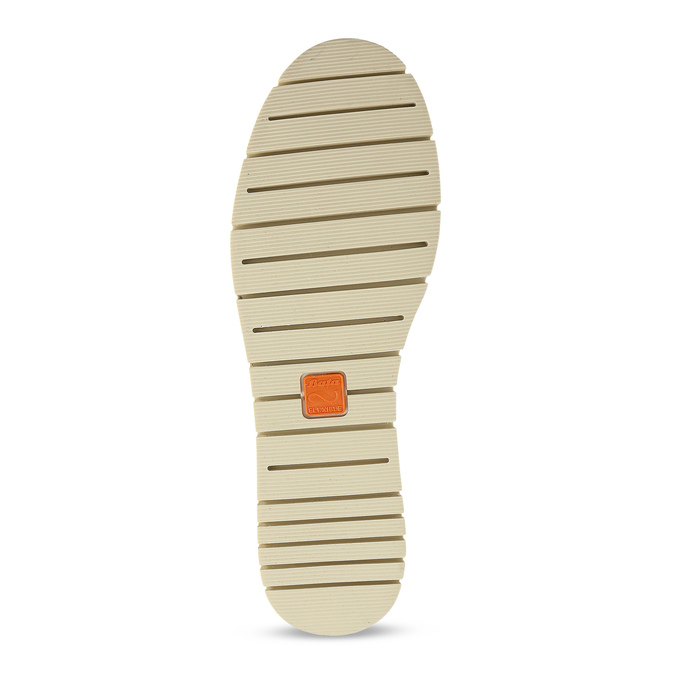 Kožená dámska Slip-on obuv s perforáciou flexible, šedá, 513-9609 - 18