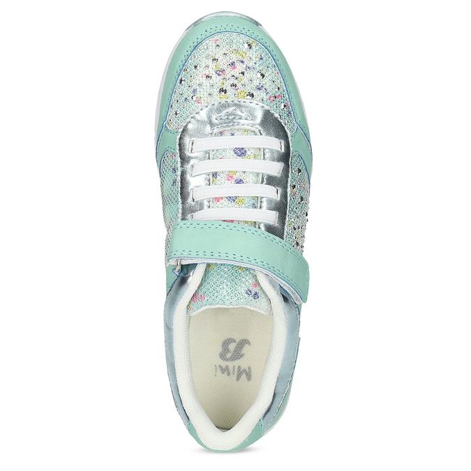 Dievčenské modré tenisky s kamienkami mini-b, 329-7617 - 17