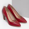 Červené kožené dámske lodičky na ihličkovom podpätku insolia, červená, 724-5661 - 26