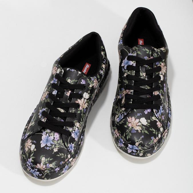 Dámske tenisky s kvetinovým vzorom čierne bata-red-label, viacfarebné, 541-6606 - 16