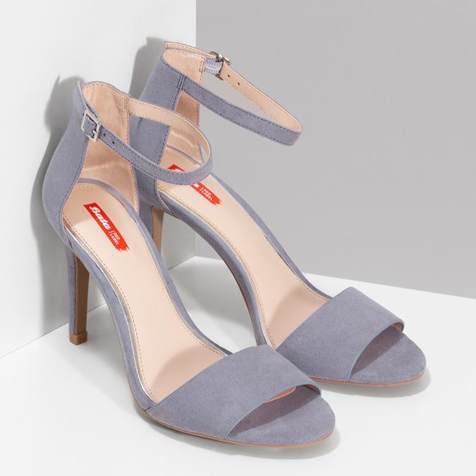 Modré dámske sandále na ihličkovom podpätku bata-red-label, modrá, 769-9626 - 26
