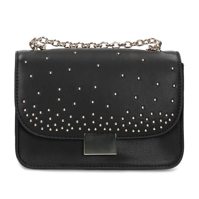 Čierna Crossbody kabelka s kovovými cvočkami bata, čierna, 961-6928 - 26