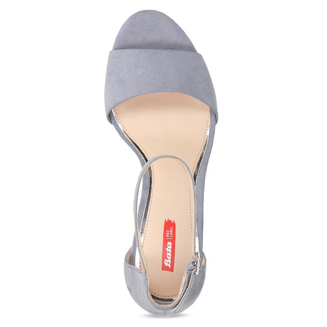 Modré dámske sandále na ihličkovom podpätku bata-red-label, modrá, 769-9626 - 17