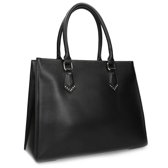 Čierna kabelka s kovovými cvočkami bata, čierna, 961-6962 - 13