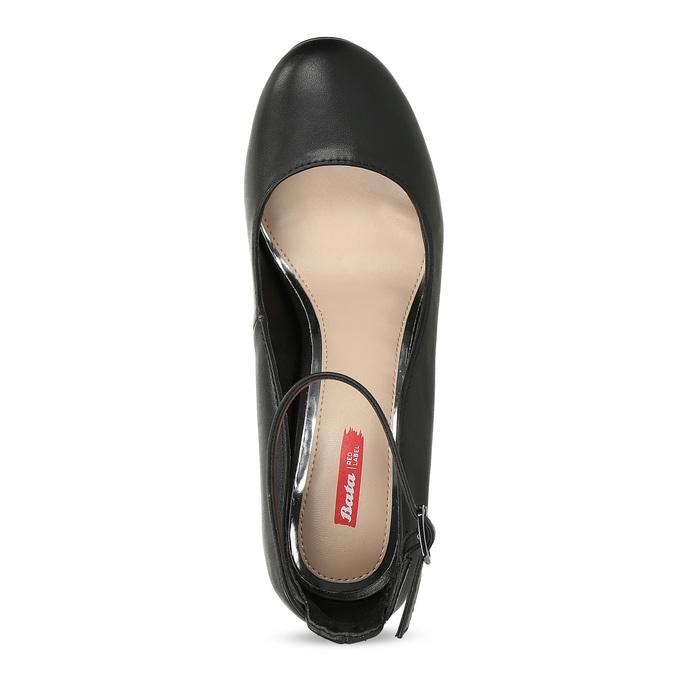Čierne dámske lodičky na stabilnom podpätku bata-red-label, čierna, 729-6635 - 17
