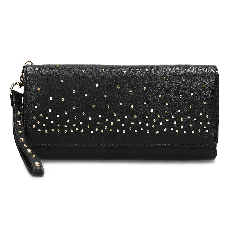43dcc3d6c ... Čierna dámska peňaženka s kovovými cvočkami bata, čierna, 941-6645 - 26  ...