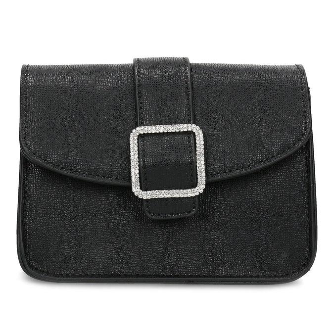 Čierna Crossbody kabelka s ozdobnou sponou bata, čierna, 961-6955 - 26