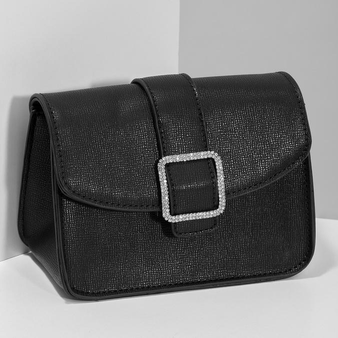 Čierna Crossbody kabelka s ozdobnou sponou bata, čierna, 961-6955 - 17