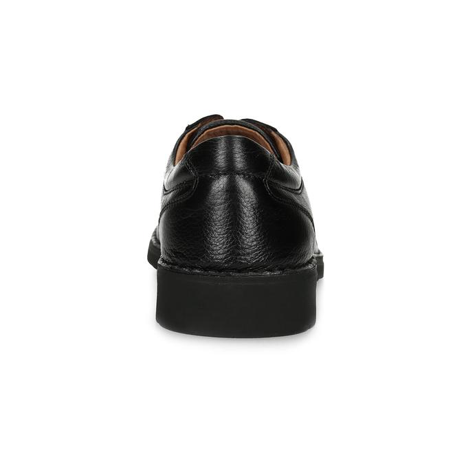 Pánske kožené poltopánky s masívnou podrážkou comfit, čierna, 824-6653 - 15