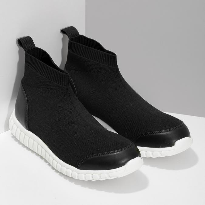 Členková dámska čierna obuv bata-red-label, čierna, 599-6627 - 26