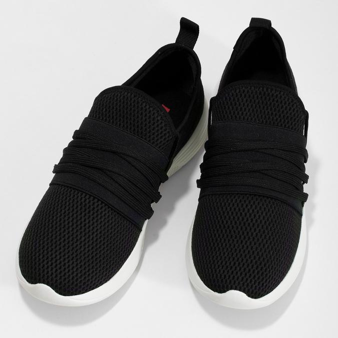 Dámske čierne tenisky s elastickým pruhom bata-red-label, čierna, 519-6607 - 16
