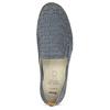 Dámska kožená Slip-on obuv s perforáciou comfit, modrá, 516-9614 - 17