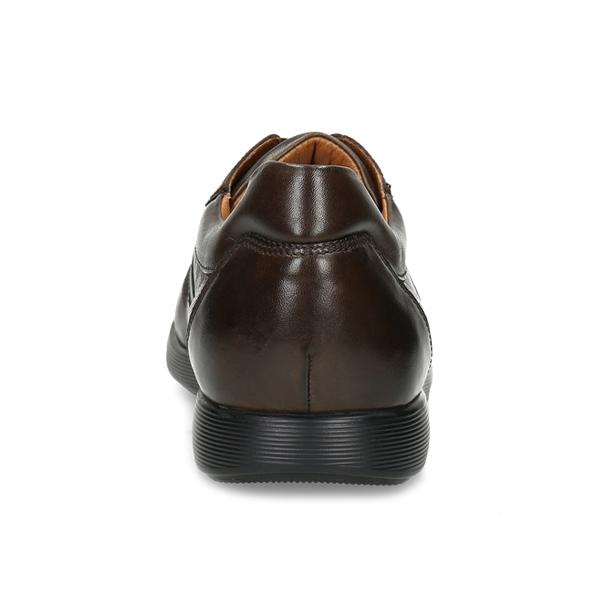 Kožené hnedé pánske tenisky bata, hnedá, 826-4686 - 15