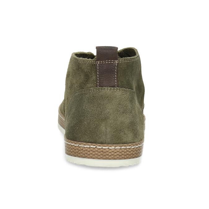Členková pánska obuv z brúsenej kože bata, zelená, 823-7605 - 15