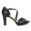 Kožené čierne sandále s asymetrickým remienkom insolia, čierna, 764-6600 - 19