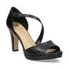 Kožené čierne sandále s asymetrickým remienkom insolia, čierna, 764-6600 - 13