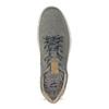 Pánske šedé kožené tenisky s perforáciou bata-light, šedá, 846-2722 - 17