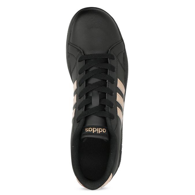 Čierno-zlaté detské tenisky adidas, čierna, 401-6164 - 17