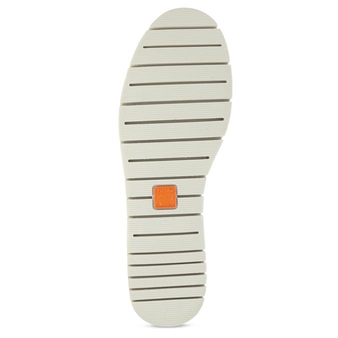 Biele kožené dámske tenisky s perforáciou flexible, biela, 524-1606 - 18