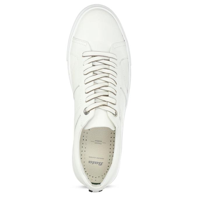 Biele kožené pánske tenisky bata, biela, 844-1649 - 17
