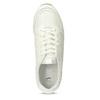 Biele dámske tenisky na vysokej flatforme bata-light, biela, 621-1656 - 17