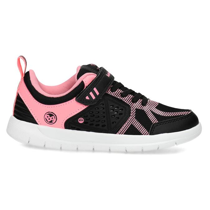 Dievčenské čierno-ružové tenisky bubble-breathe, čierna, 321-6172 - 19