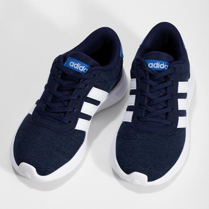 Úpletové modré tenisky chlapčenské adidas, modrá, 309-9209 - 16
